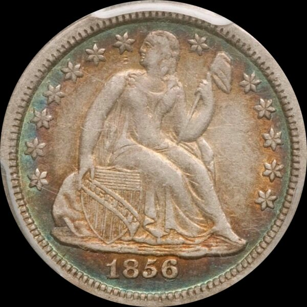 1856-O Dime Repunched Date Fortin-104 XF45 PCGS