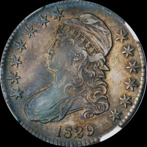 1829 Small Letters Capped Bust Half O-105 XF45 NGC