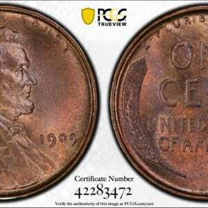 1909 VDB Cent, Doubled Die Obverse, FS-1102, MS65RB PCGS