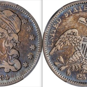 1834 B-4 Quarter VF25 PCGS