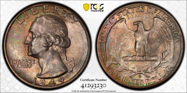 1949-D Washington Quarter MS66 PCGS