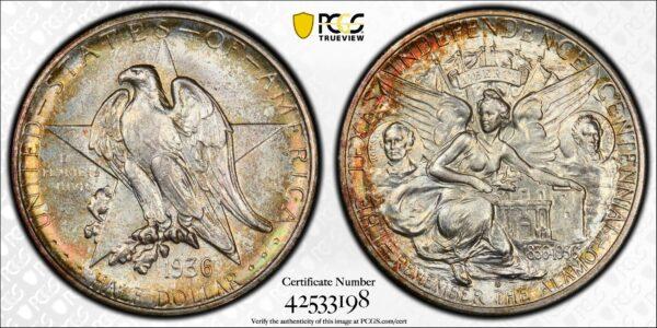 1936-S Texas Commemorative Half Dollar MS66 PCGS