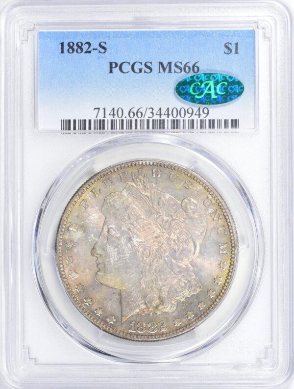 1882-S Morgan Dollar MS66 PCGS CAC