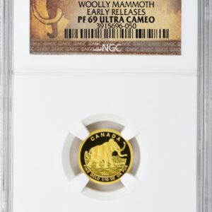Canada 2014 Gold FIve Dollar One-Tenth Ounce Woolly Mammoth PR69UCAM NGC