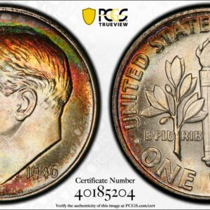 1946 Roosevelt Dime, Rim-Toned MS67+ PCGS