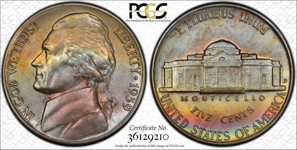1939-D Reverse of 1940 Jefferson Nickel MS65 PCGS