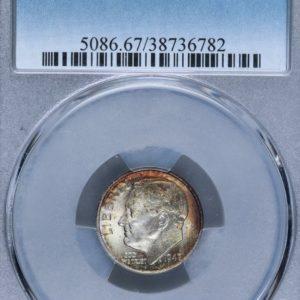 1947-D Roosevelt Dime MS67 PCGS