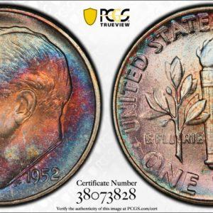 1952 Roosevelt Dime MS67 PCGS