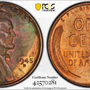 1945-D Lincoln Cent MS64BN PCGS