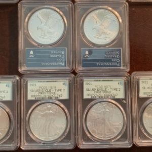 2021 Type 2 American Silver Eagle MS70 PCGS Retro OGH Holder