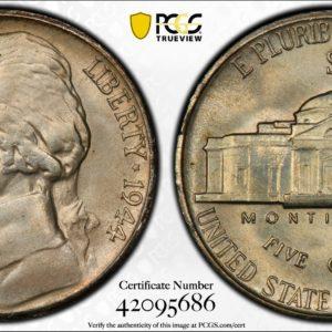 1944-S Jefferson Nickel MS67 PCGS